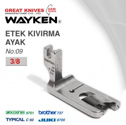 WAYKEN - WAYKEN NO:09 ETEK KIVIRMA AYAK 3/8 BROTHER 737 / JUKI 8700 TYPICAL C60 / ZOJE 9701