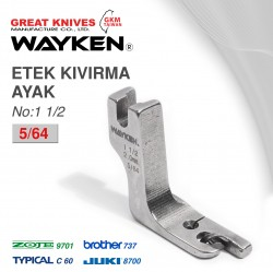 WAYKEN - WAYKEN NO:11/2 ETEK KIVIRMA AYAK 5/64 BROTHER 737 / JUKI 8700 TYPICAL C60 / ZOJE 9701