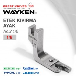 WAYKEN - WAYKEN NO:21/2 ETEK KIVIRMA AYAK 1/8 BROTHER 737 / JUKI 8700 TYPICAL C60 / ZOJE 9701