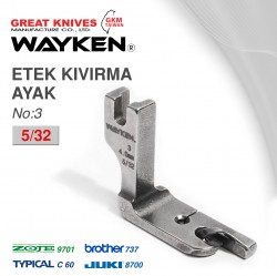 WAYKEN - WAYKEN NO:3 ETEK KIVIRMA AYAK 5/32 BROTHER 737 / JUKI 8700 TYPICAL C60 / ZOJE 9701