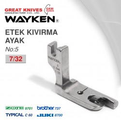 WAYKEN - WAYKEN NO:5 ETEK KIVIRMA AYAK 7/32 BROTHER 737 / JUKI 8700 TYPICAL C60 / ZOJE 9701