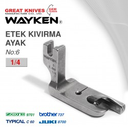 WAYKEN - WAYKEN NO:6 ETEK KIVIRMA AYAK 1/4 BROTHER 737 / JUKI 8700 TYPICAL C60 / ZOJE 9701