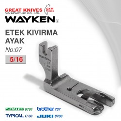 WAYKEN - WAYKEN NO:7 ETEK KIVIRMA AYAK 5/16 BROTHER 737 / JUKI 8700 TYPICAL C60 / ZOJE 9701