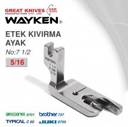 WAYKEN - WAYKEN NO:71/2 ETEK KIVIRMA AYAK 5/16 BROTHER 737 / JUKI 8700 TYPICAL C60 / ZOJE 9701