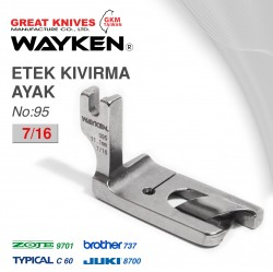 WAYKEN - WAYKEN NO:95 ETEK KIVIRMA AYAK 7/16 BROTHER 737 / JUKI 8700 TYPICAL C60 / ZOJE 9701